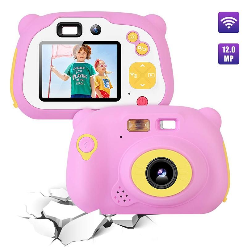 어린이 카메라 8.0MP 충전식 디지털 프런트 및 후면 Selfie 카메라 어린이 캠코더, 4-10 년 동안 장난감 선물 소년과 소녀