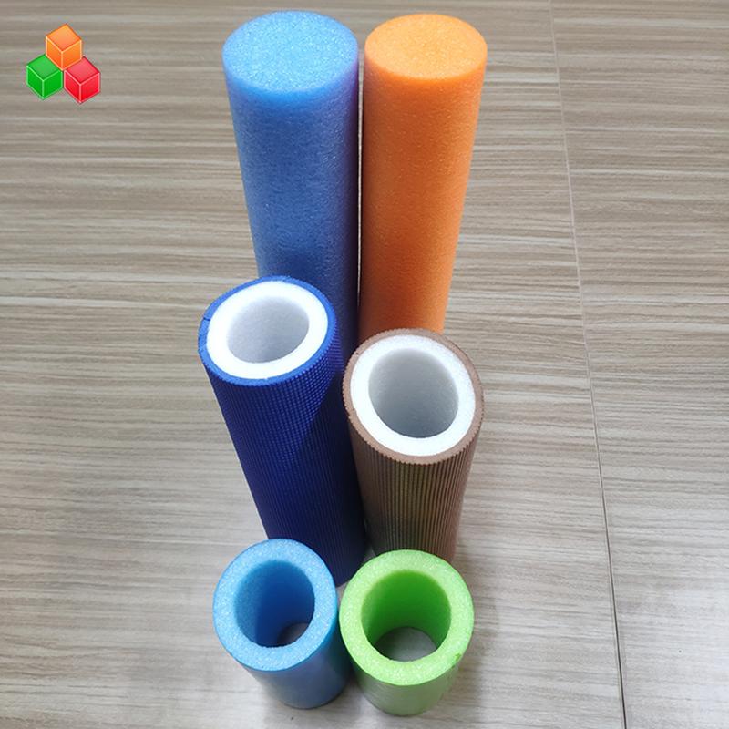 실내 운동장 장비 / 포장을위한 주문 모양 로고 색깔 최고 연약한 빈 거품 관 PVC EVA EPE 거품 둥근 관