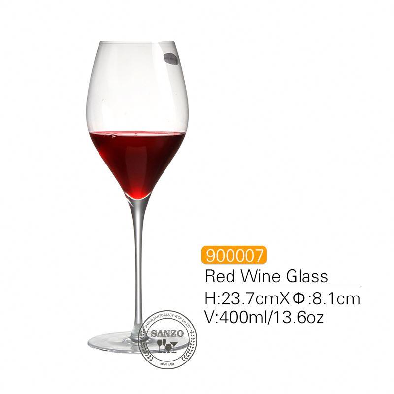 산조 검은 줄기리스 모어 풍선 와인 유리 수제 무연 크리스탈 새겨진 안경 두꺼운 안경