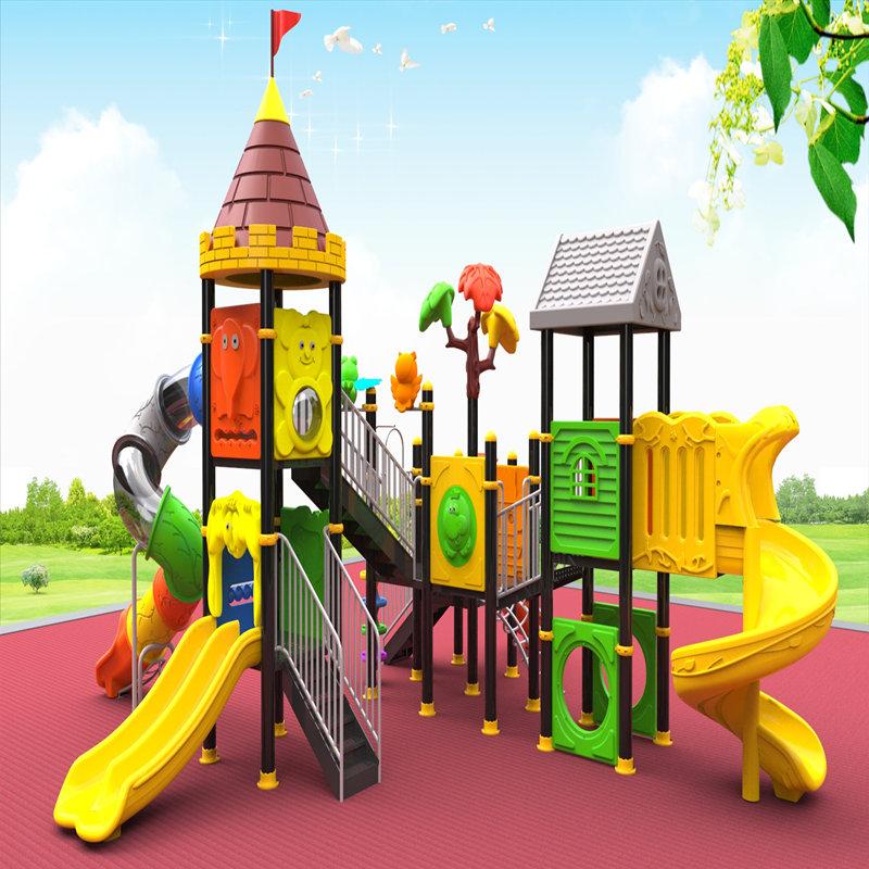 아이들을 가진 옥외 운동장 장비는 아이 장난감 집 게임을 미끄러집니다