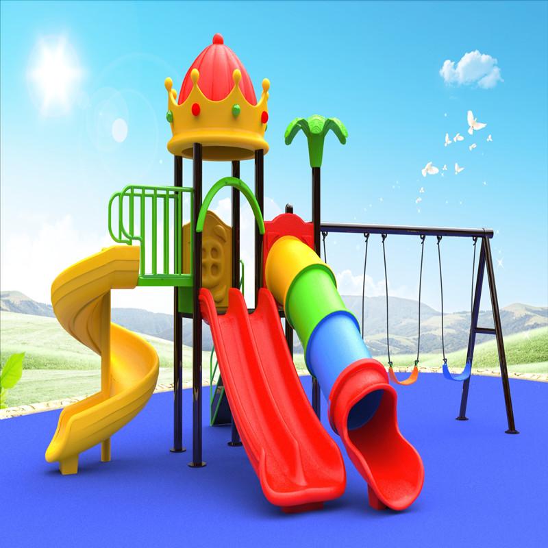 아이들을위한 아이 그네 활주 게임을 가진 옥외 크라운 지붕 놀이 집 운동장 장비