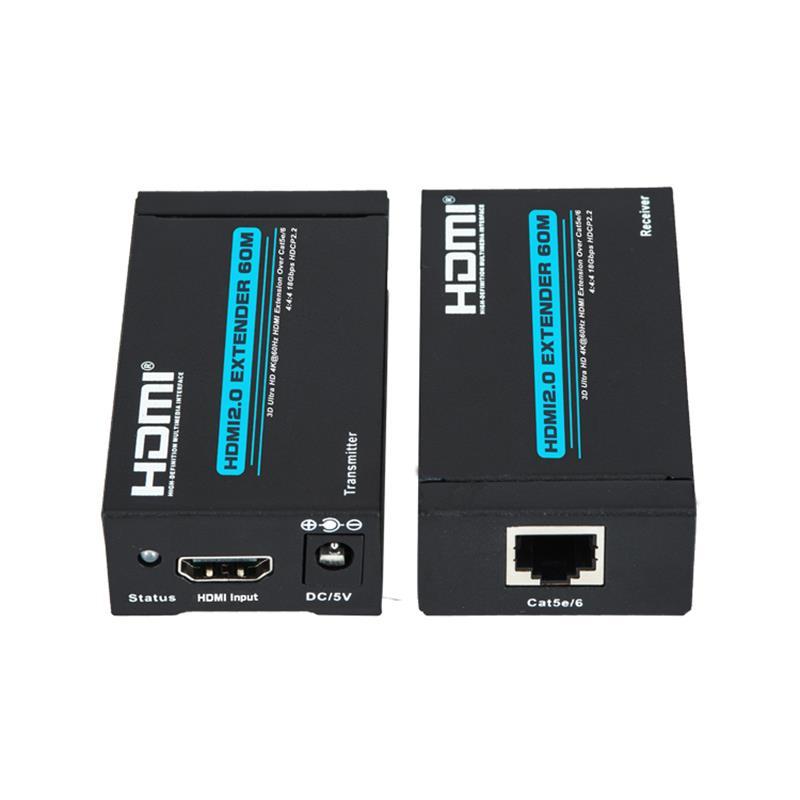 단일 cat5e \/ 6를 지원하는 신제품 V 2.0 HDMI 익스텐더 60m Ultra HD 4Kx2K @ 60Hz HDCP2.2 지원